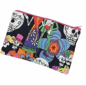 🍍Sugar skull zipper pouch makeup case coin purse